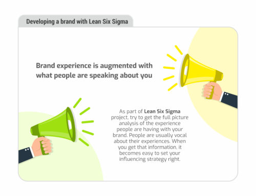 Gauging brand experience in a Lean Six Sigma project
